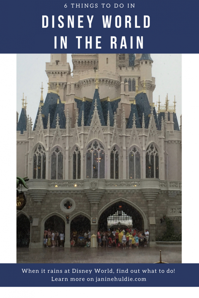 6 Things to Do in Disney World In the Rain from Confessions of a Mommyaholic.