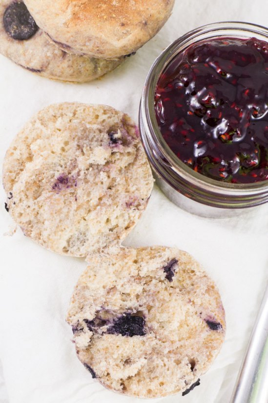 Blueberry English Muffins from Brooklyn Farm Girl.