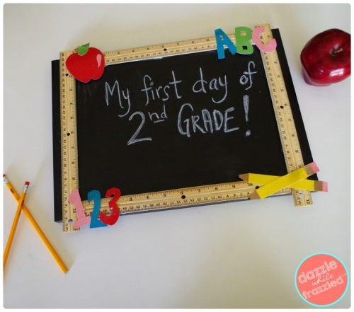 DIY Reusable Chalkboard Sign for School With Free Graphics!