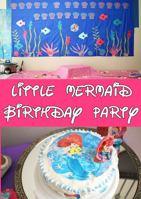 Little Mermaid Birthday Party from Foxy's Domestic Side.