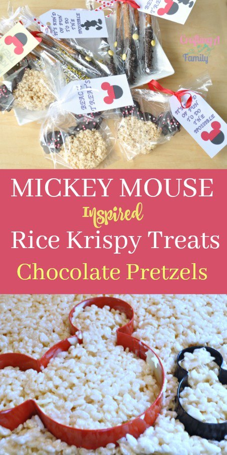 Learn how to make these fantastic Mickey Mouse inspired Rice Kripsie treats and chocolate pretzels!