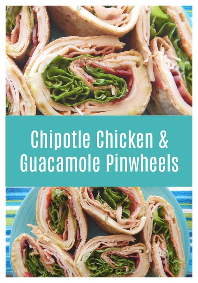 Master lunchtime with these delicious Chipotle Chicken Guacamole Pinwheels!