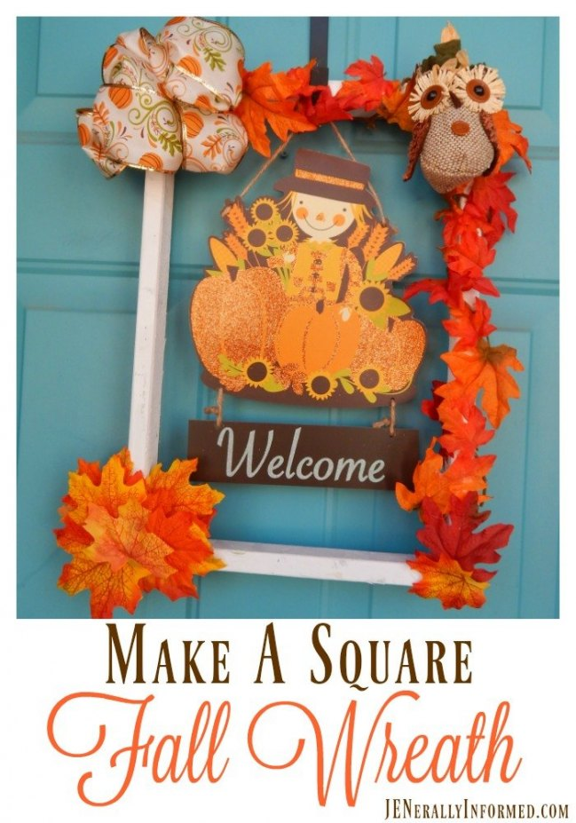 "The ""square-tastic"" Fall wreath!"
