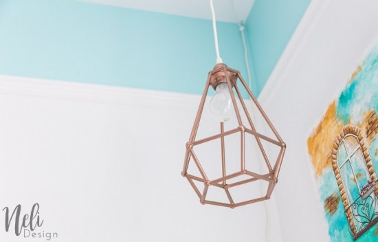 Make an affordable geometric pendant light from Neli Design.