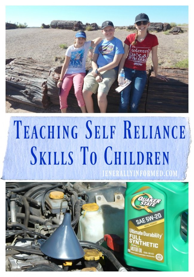 Teaching Self Reliance Skills To Children.