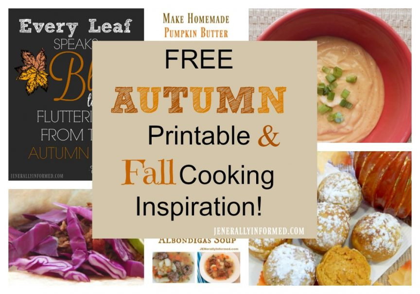 Grab this adorable Fall printable and find some some inspiration in the kitchen!