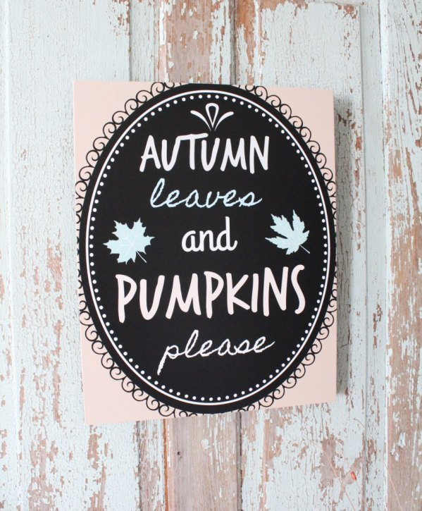 Autumn Leaves and Pumpkins Please Free Fall Printable from Repurpose and Upcycle.