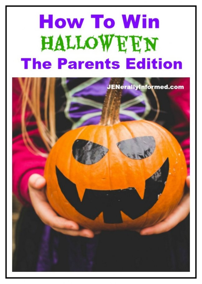 How To Win On Halloween: The Parents Edition. Everything you need to know to survive the holiday with young children.