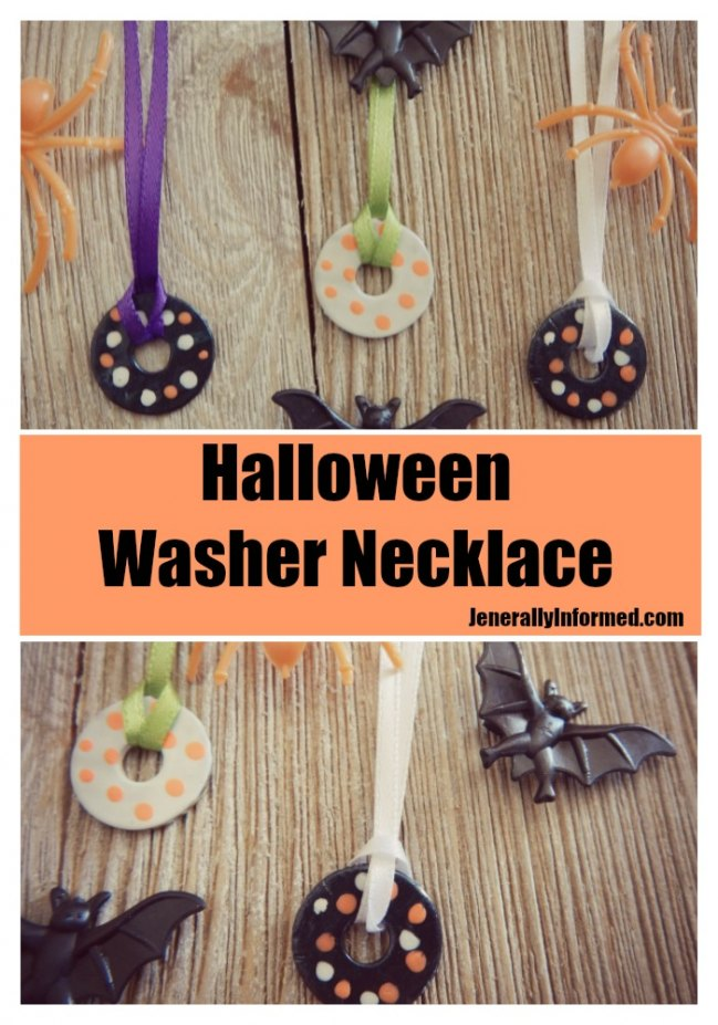 Here's how to make #Halloween necklaces out of washers and nail polish!