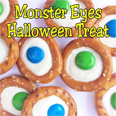 Monster Eyes Halloween Pretzel Treat from Everyday Parties.