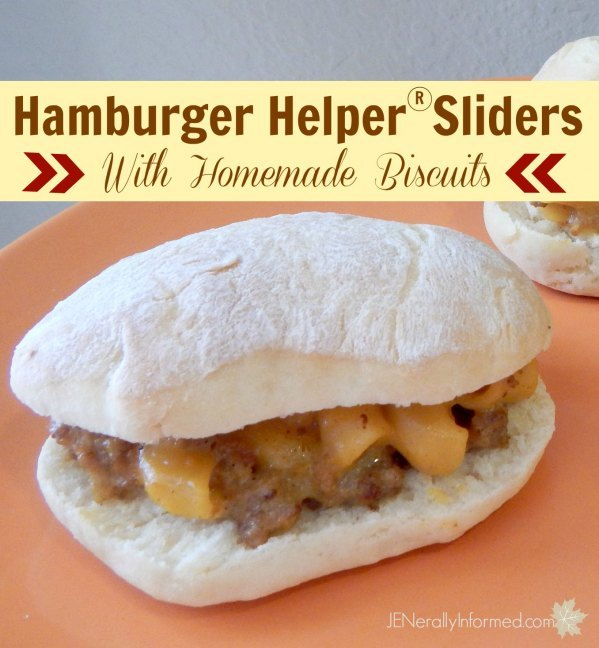 Don't fret about dinner prep with these super easy and delicious Hamburger Helper sliders!