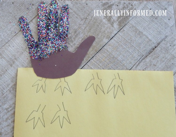 Gobble Gobble! Get ready for Thanksgiving with these adorable glitter hand print turkey puppets!