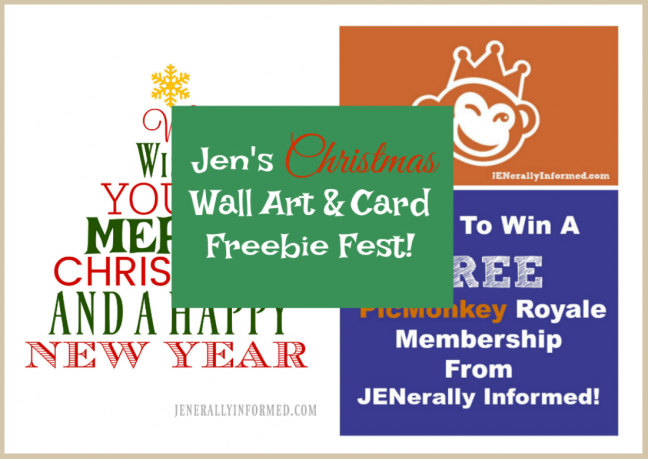 Jen's Christmas Wall Art & Card Freebie Fest!