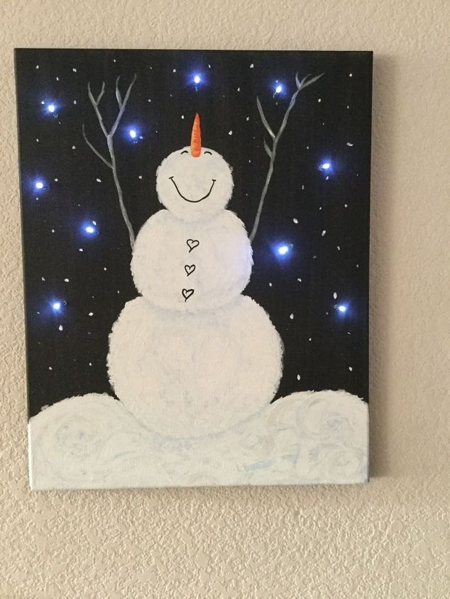 Light Up Canvas Art from Chas' Crazy Creations.