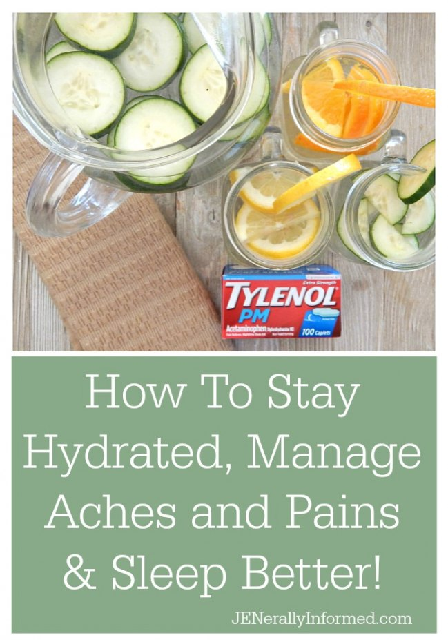 How To Stay Hydrated, Manage Aches and Pains & Sleep Better! #ForBetterTomorrows #BetterTomorrows #FallBack