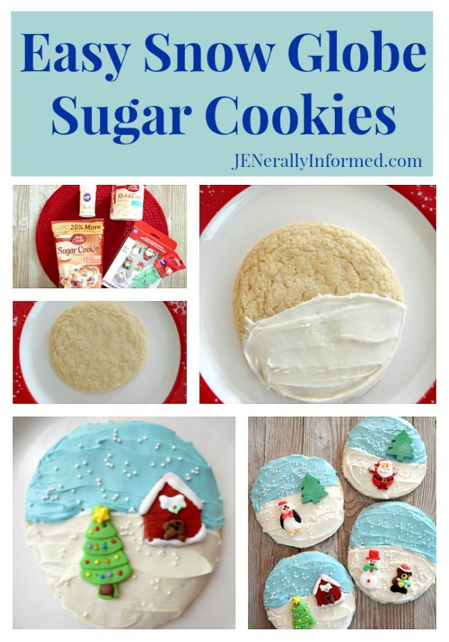 Easy Snow Globe Sugar Cookies! Get your baking done in less than an hour.