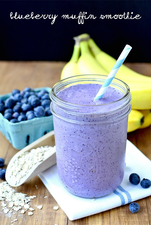 Blueberry Muffin Smoothie From Iowa Girl Eats.