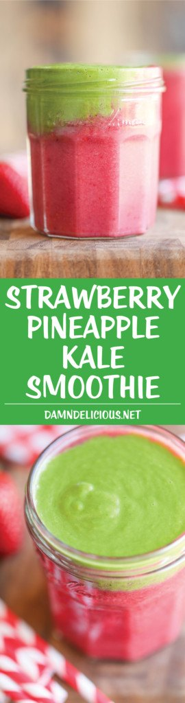 Strawberry Pineapple Kale Smoothie From Damn Delicious.