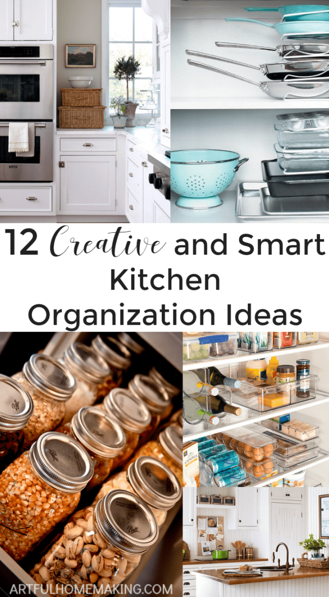 12 Creative and Smart Kitchen Organization Ideas From Artful Homemakeing.