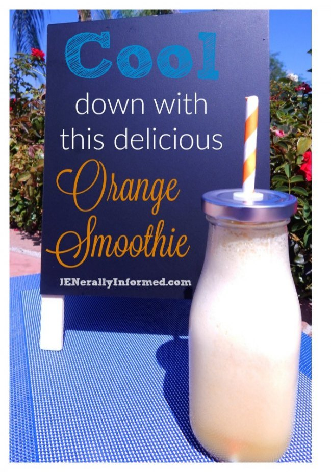 Delicious, kid approved orange smoothie!