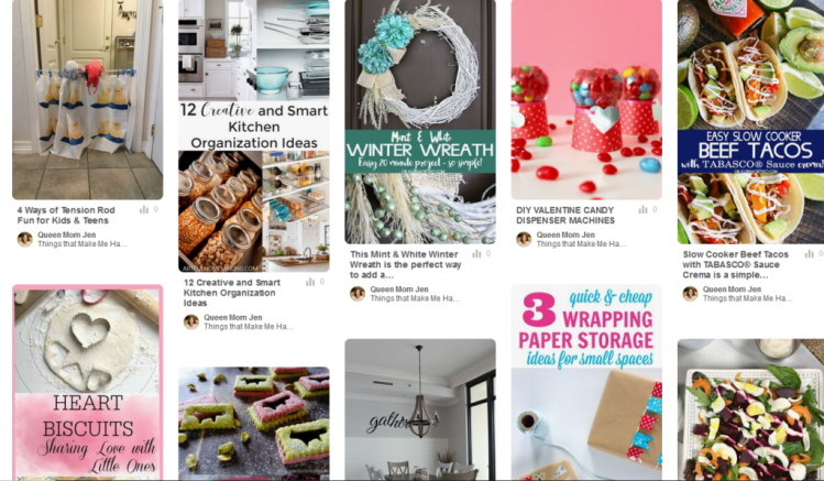 Follow our all things Happy Now Link-Up boards!