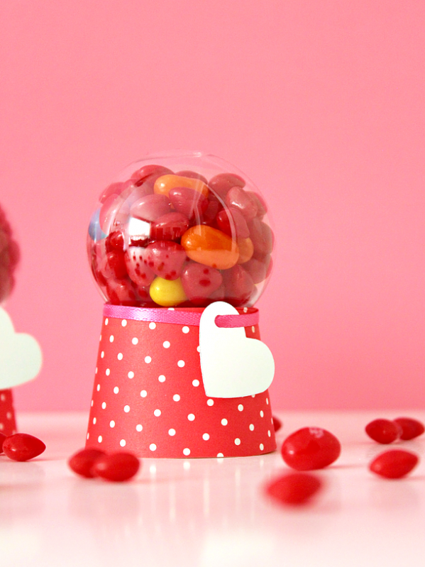 DIY VALENTINE CANDY DISPENSER MACHINES From White House Crafts.