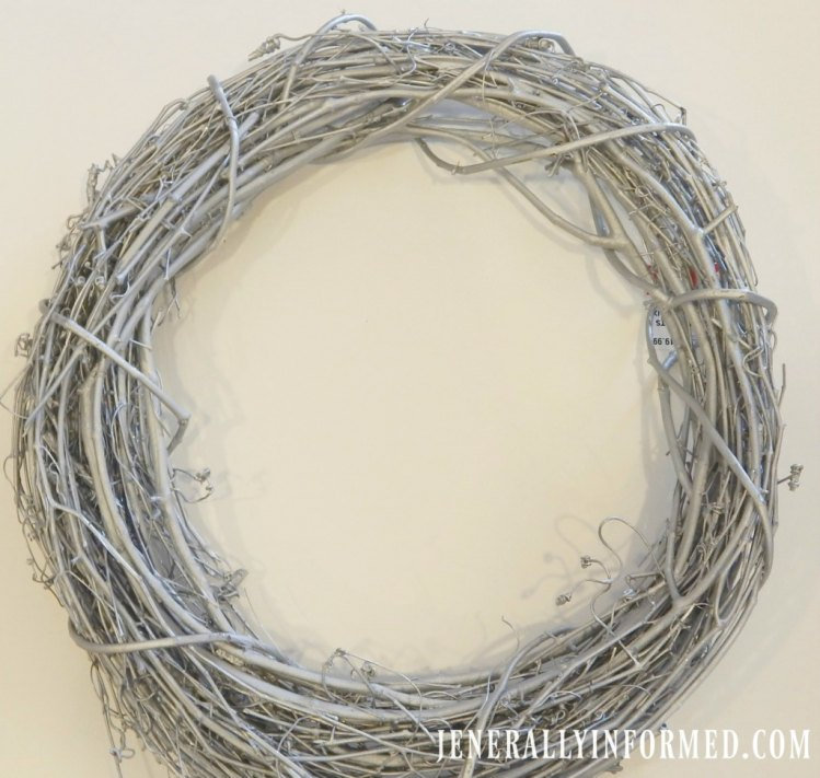 Transition Christmas decorations into cute winter decorations like this adorable wreath!