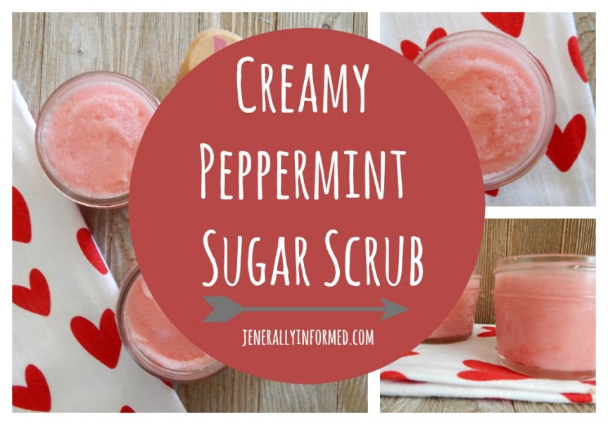 Pamper yourself with this creamy peppermint sugar scrub!