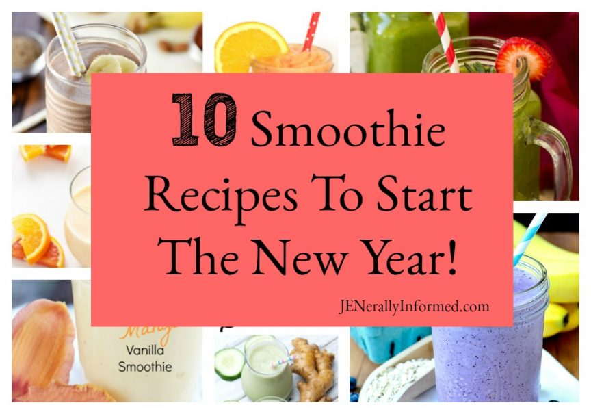 Looking for ways to cut out the decadent eating of the holidays? Then check out these 10 Smoothie Recipes To Start The New Year!