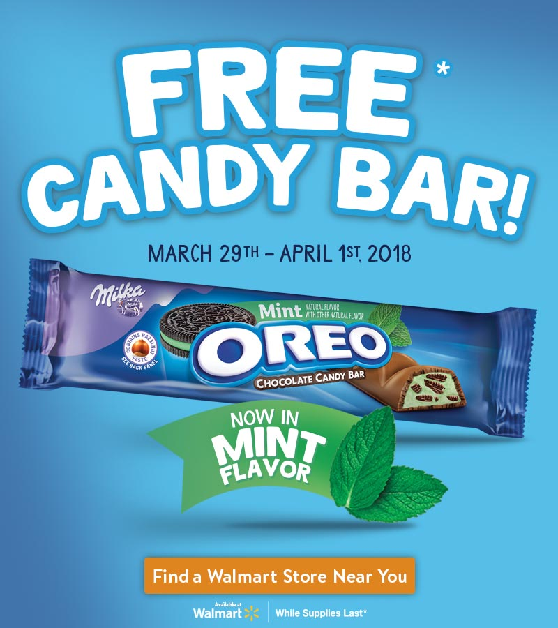 Don't Miss The Rollback On OREO Mint Chocolate Candy Bars!