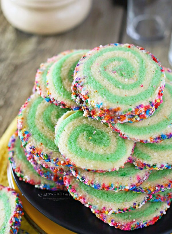 Rainbow Pinwheel Cookies from Kleinworth & Co.