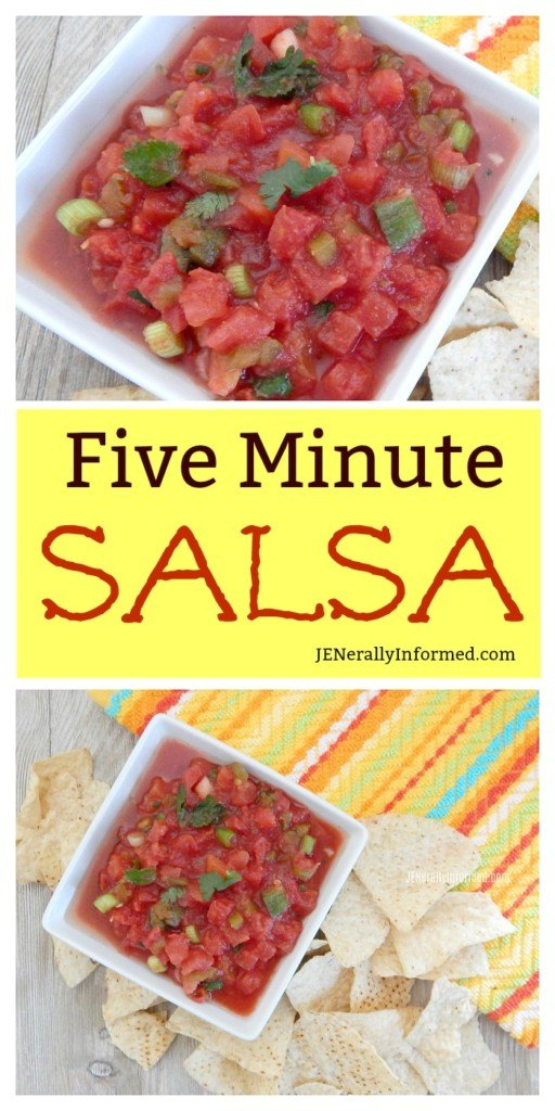 Learn how to make salsa bursting with fresh flavor and ingredients in only five minutes!