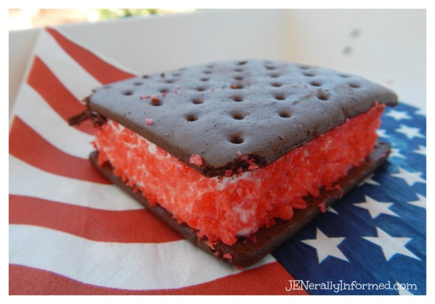 A deliciously cool summer time Americana inspired treat with a surprise!