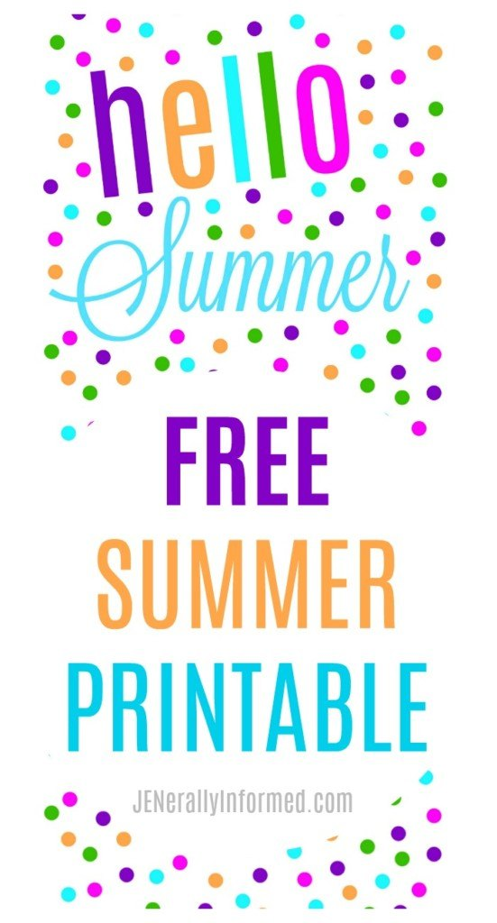 Hello summer! Grab your copy of this adorable summer printable right NOW!