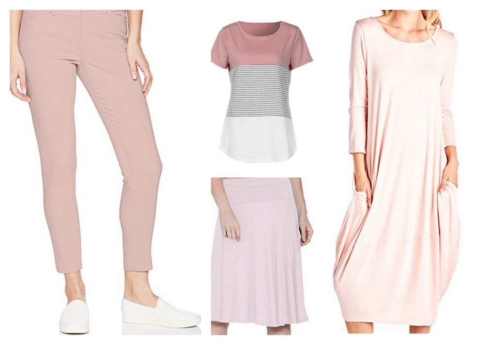 Summer 2018 on trend items. Give blush a try!