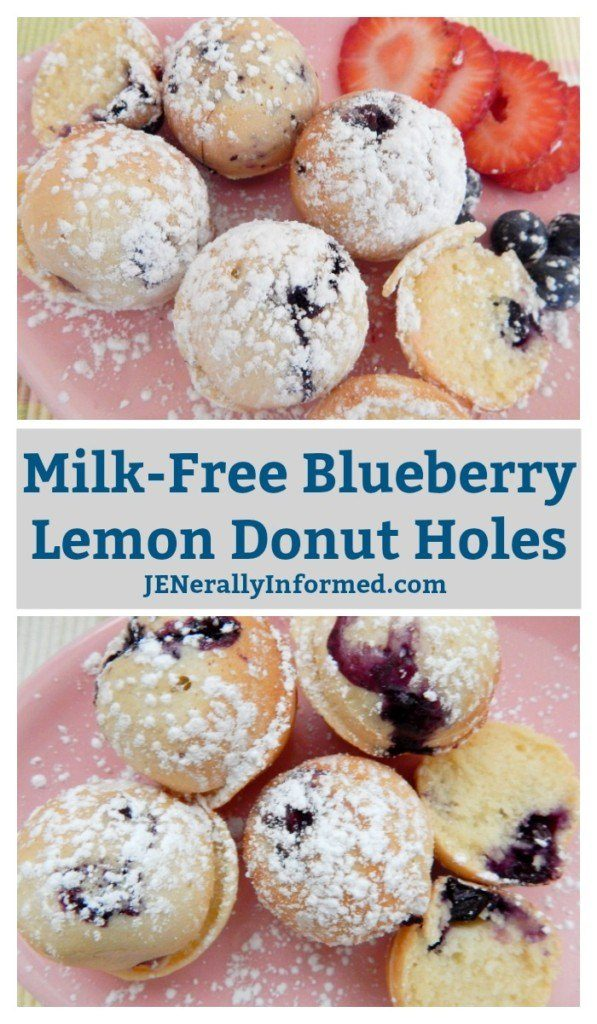 Learn How To Make Milk-Free Blueberry Lemon Donut Holes!