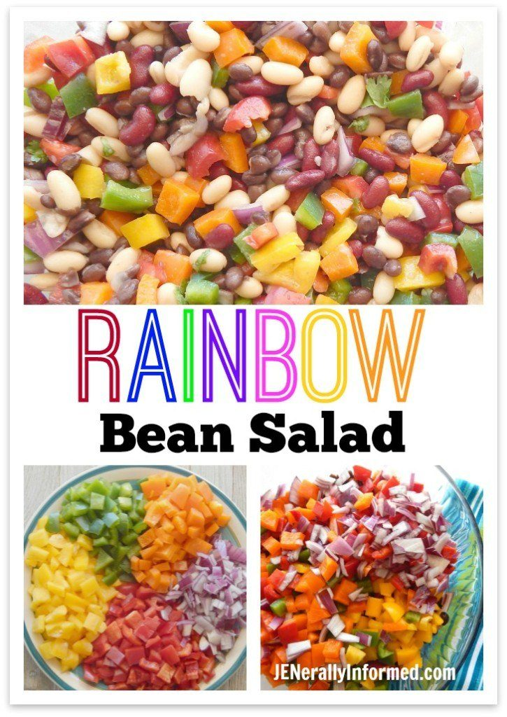 Taste the rainbow with this delicious AND easy bean salad!