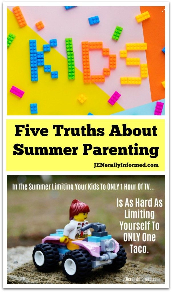 Aren't all families like this? Five summer parenting truths that might make you feel better about your own brood.