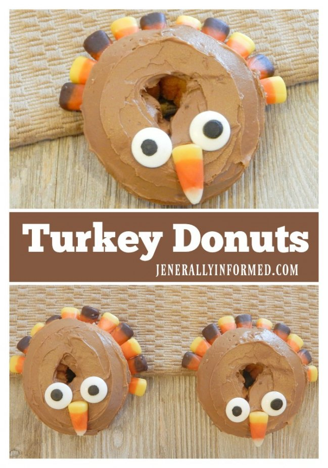 "You are going to want to ""gobble"" up these deliciously easy to make turket donuts."