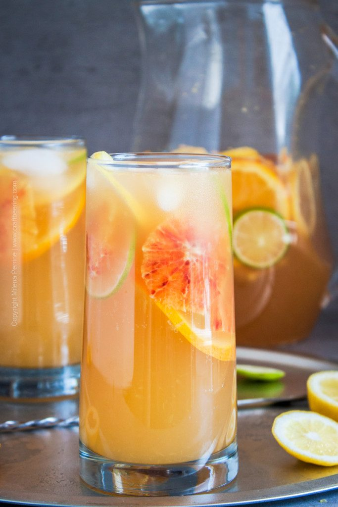 White Sangria (2 in 1 recipe) from Craft Beering.
