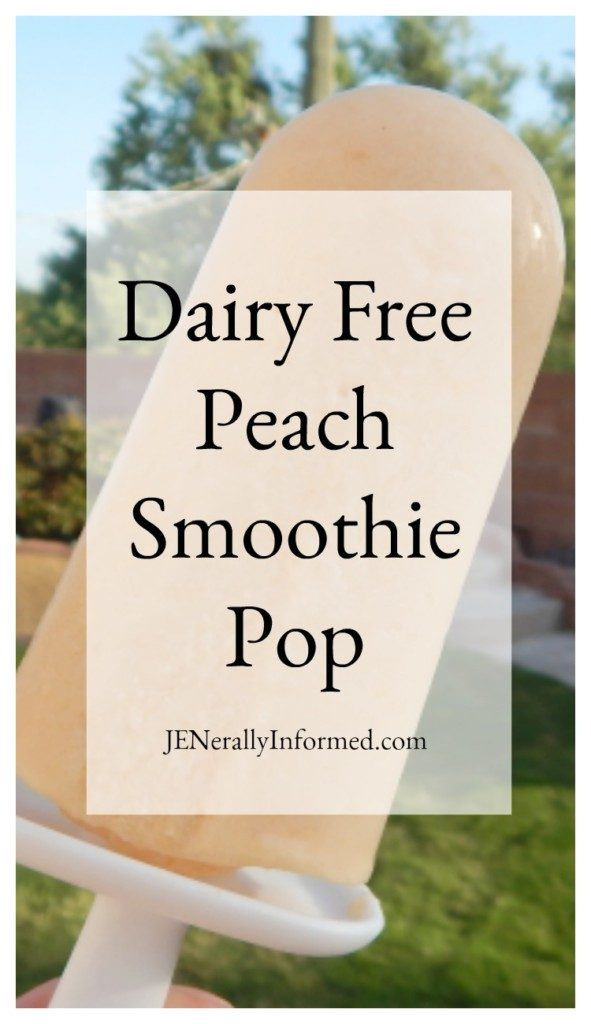 Cool down this summer with a delicious and easy to make dairy free peach smothie pop!