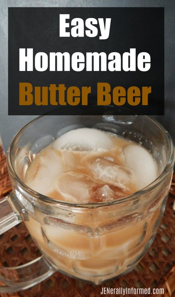Try this recipe for homemade butter beer that is easy to make and super tasty!