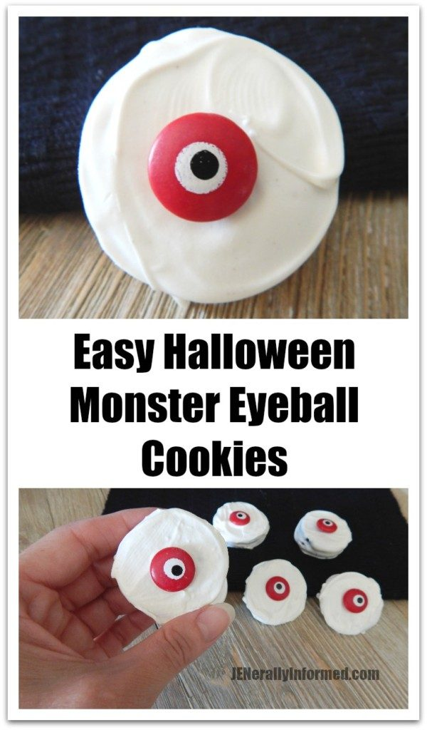 Spook out your crew with this recipe for easy monster eyeball cookies!