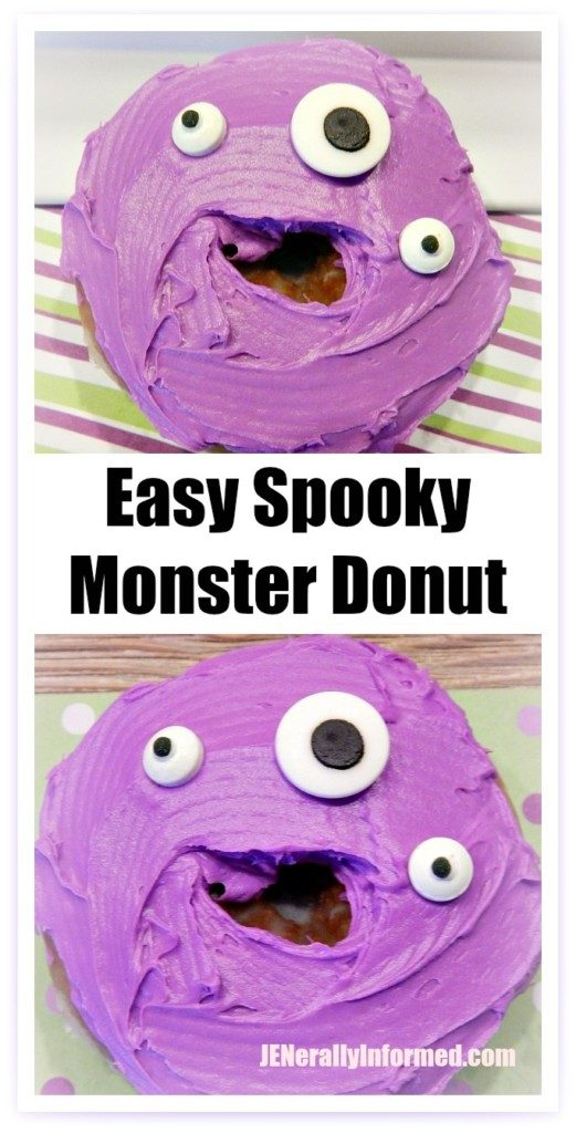 Easy spooky monster donuts! A perfect #halloween #classroom activity for #children!