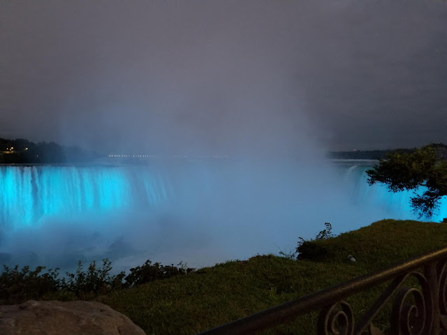 Niagara Falls at Night from Our Unschooling Journey.