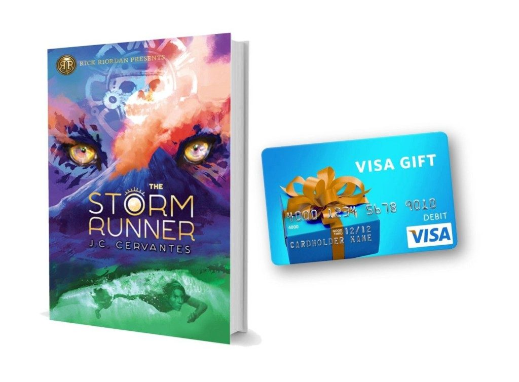 Enter for a chance to win a copy of #TheStormRunner and a $50 Visa giftcard @ReadRiordan @DisneyHyperion! #ad
