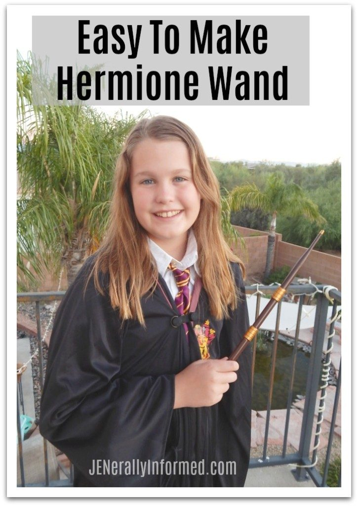 You are never going to guess what this super easy Hermione wand was made from! Learn how to make your own #HarryPotter wand!