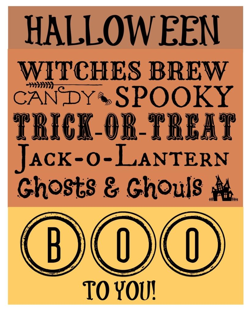 Grab this adorable #Halloween #printable and make decorating easier than saying boo!