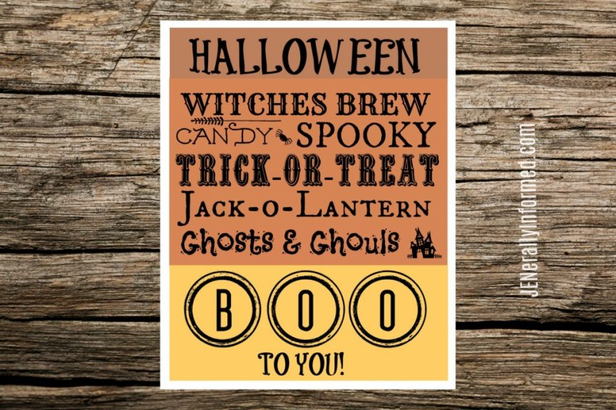 Grab this adorable Halloween printable and make decorating easier than saying boo!