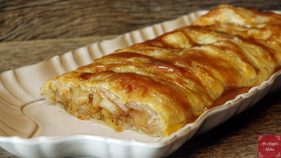 Apple Puff Pastry Tart from Mrs. Kringle's Kitchen.